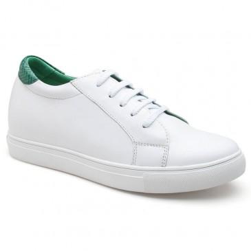 รองเท้าลิฟท์ - รองเท้าผ้าใบสำหรับสตรีรองเท้าส้นสูง 7 ซม