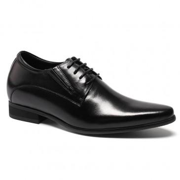 รองเท้าหนังแท้ลิ้นชัดสีดำรองเท้าใส่รองเท้าสีดำความสูง 8 ซม