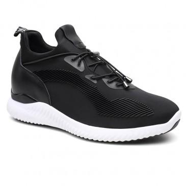 รองเท้าผู้ชายยกสูงรองเท้าผู้ชายสีดำรองเท้ายกสูงเพิ่มรองเท้ารองเท้ายกพื้นให้คุณสูงขึ้น 7 ซม