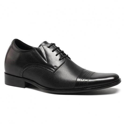 Chamaripa Verhoog Hoogte Schoenen Heren verhoogde schoenen zwarte nette schoenen 7 CM Langer