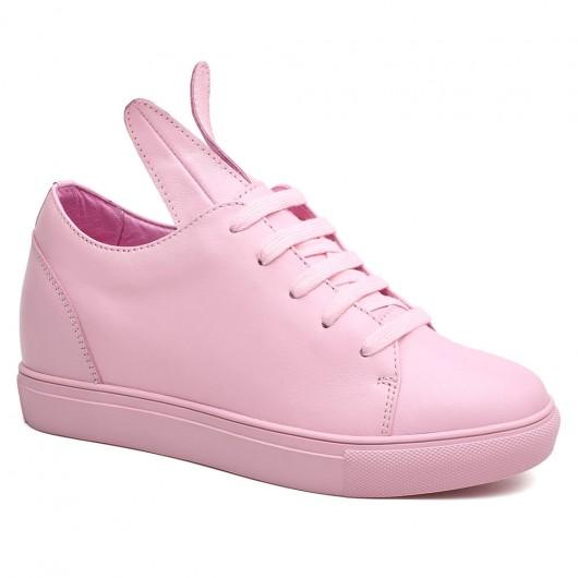 Chamaripa Verhogende Schoenen dames sneakers met sleehak schoenen met sleehak Roze 8 CM Langer