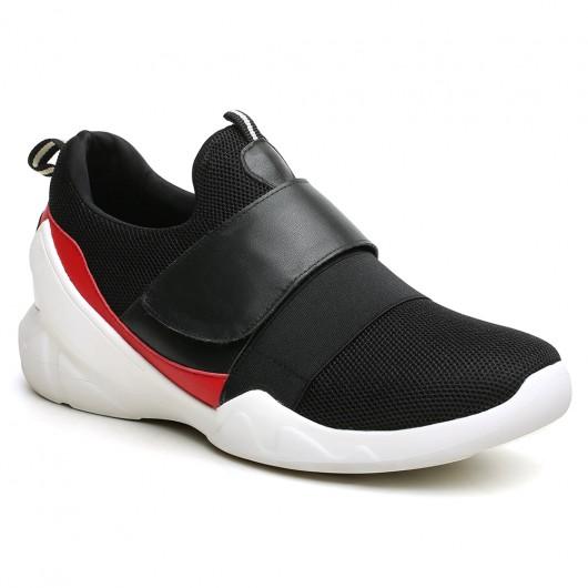 Chamaripa Verhogende Schoenen zwart verhoogde sneakers 6 CM Langer