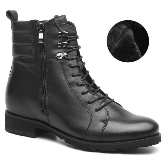 Chamaripa Verhoogde Schoenen heren schoenen met hoge hak Zwart heren laarzen met hak 7 CM