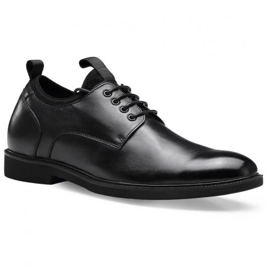 Chamaripa verhogende schoenen heren schoenen met verborgen hak zwart  6 CM Langer