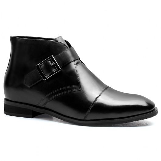 Chamaripa Verhogende Schoenen heren laarzen met hak zwart  heren enkellaarzen 7 CM Langer