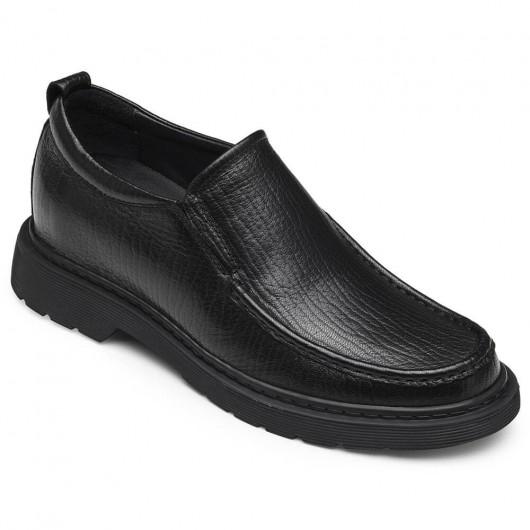 CHAMARIPA schoenen met verhoogde hiel verhogende schoenen hoogte verhogen loafer schoenen voor mannen zwart 6 CM