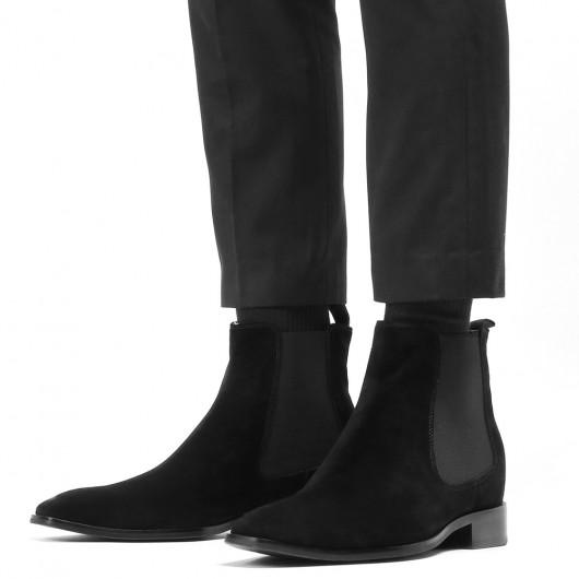 CHAMARIPA verhogende schoenen hoog hak heren schoenen laarzen met hoge hak voor mannen suède laarzen 7CM