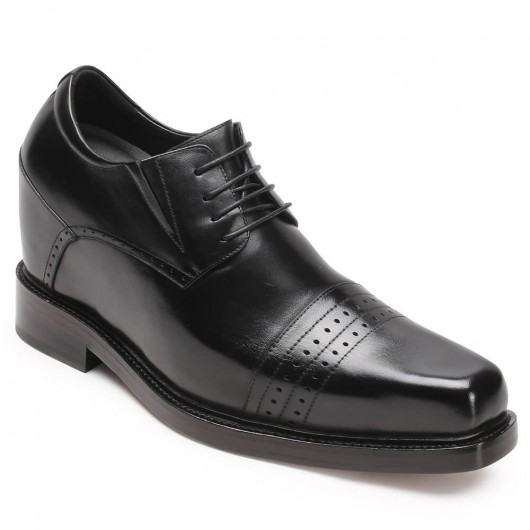 CHAMARIPA verhogende schoenen heren schoenen met hoge hak scarpe stringate in pelle zwart 13CM