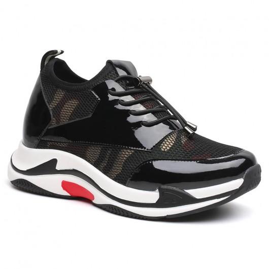 Chamaripa Verhogende Schoenen Dames Sneakers met Sleehak sneakers hak zwart 8 CM Langer