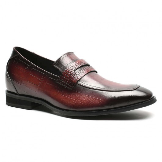 Chamaripa heren schoenen met hoge hak verhogende schoenen instappers heren 7 CM Langer