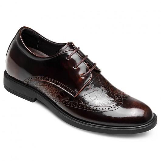 CHAMARIPA verhoogde schoenen mannen mannen schoenen met hoge hak brogue schoenen voor heren 6CM