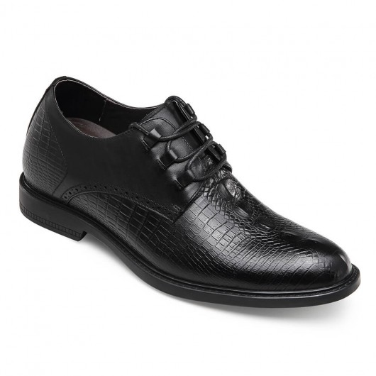 CHAMARIPA verhoogde schoenen mannen mannen schoenen hoge hakken zwart lederen nette schoenen 7 CM