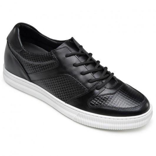 CHAMARIPA verhogende schoenen sneakers met verhoogde binnenzool Zwart Sneakers met Sleehak 6CM