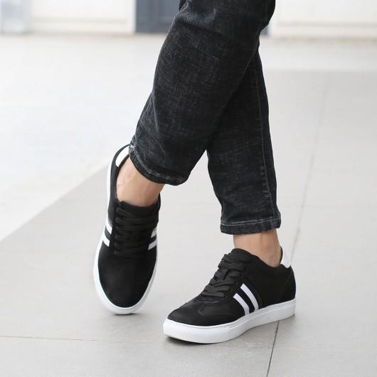 CHAMARIPA verhoogde schoenen voor mannen - sleehakken sneakers - schoenen met verhoogde hiel zwart 6 CM