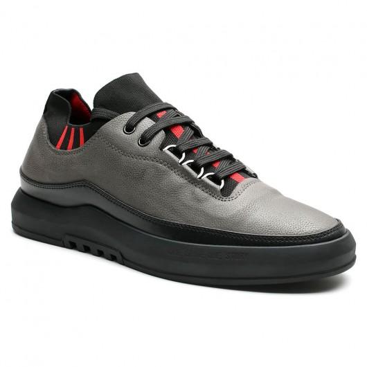CHAMARIPAonzichtbaar verhoogde schoenen sneaker met hak Grijs 6CM Langer