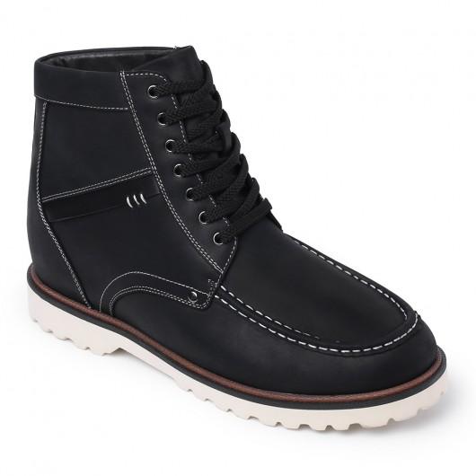 Chamaripa verhogende schoenen hoge hakken voor mannen heren laarzen met hak Zwart 9 CM