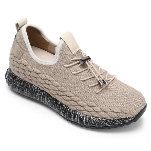 Chamaripa mannen schoenen met ingebouwde hak verhoogde herenschoenen sneakers met verhoogde hak 7 CM