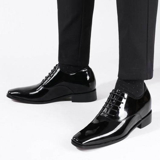 CHAMARIPA schoenen die je langer maken 7 CM hoge hakken voor mannen kleding schoenen Zwart