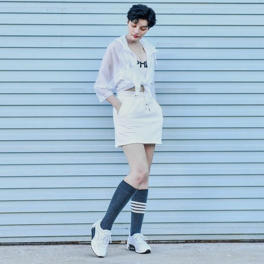 CHAMAIRIPA verhogende schoenen dames witte leren sneakers met verborgen sleehak hakverhoging in schoen 8CM