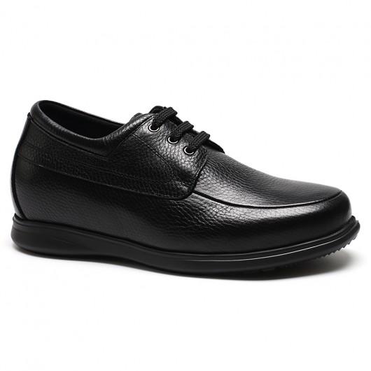 Chamaripa verhogende schoenen mannen schoen met hoge hak zwarte vrijetijdsschoenen 7 CM
