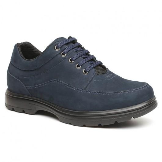 Chamaripa Verhoogde Zolen voor Mannen Blauw casual schoenen heren 6 CM Langer