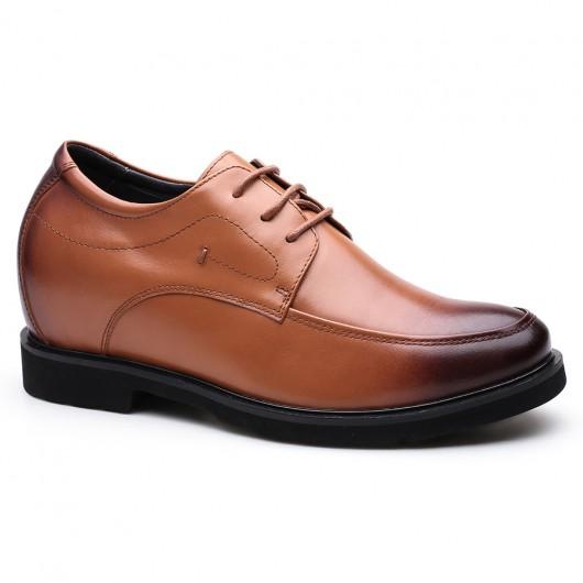 Chamaripa Verhogende Herenschoenen leren heren schoenen schoenen om langer te lijken 8 CM