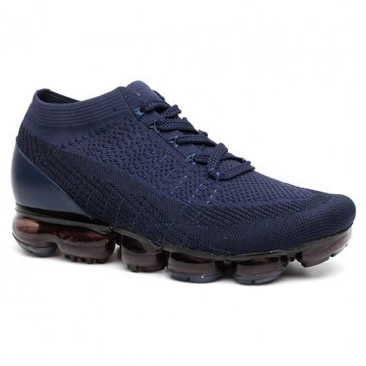 CHAMARIPA verhoogde schoenen voor mannen hak sneakers Blauw heren schoenen met hoge hak 5 CM Langer