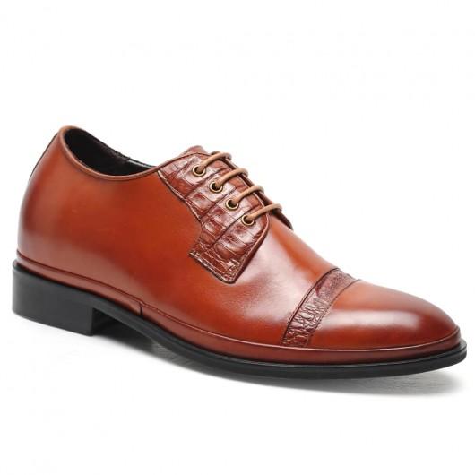 CHAMARIPA Heren Schoenen met Hoge Hak op maat gemaakte schoenen heren zwart 7 CM Langer
