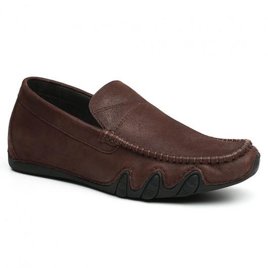Chamaripa Onzichtbaar Verhoogde Schoenen Bruin schoenen die je groter maken 6 CM
