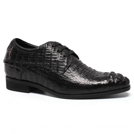 Chamaripa Verhogende Schoenen op maat gemaakte schoenen handgemaakte italiaanse schoenen heren kleding schoenen 7 CM Langer