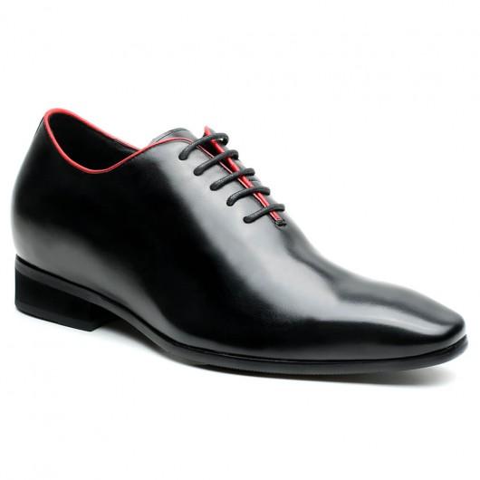 Chamaripa Verhogende Schoenen heren schoenen met hak onzichtbaar verhoogde schoenen Zwart 7 CM Langer