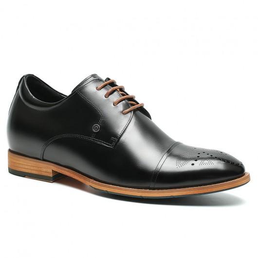 CHAMARIPA verhogende herenschoenen verhoogde schoenen Zwart 7 CM Langer