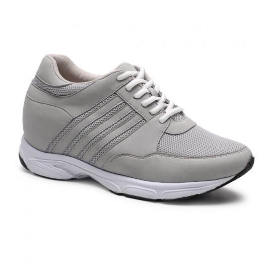 Chamaripa Verhogende Schoenen sportschoenen met sleehak Herenschoenen met hoge hak Grijs 8.5 CM