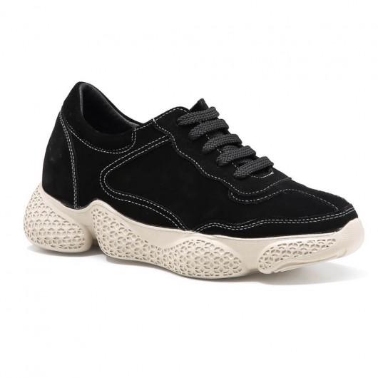 Chamaripa Dames schoenen met verborgen hak verhoogde schoenen sneakers met sleehak 8 CM