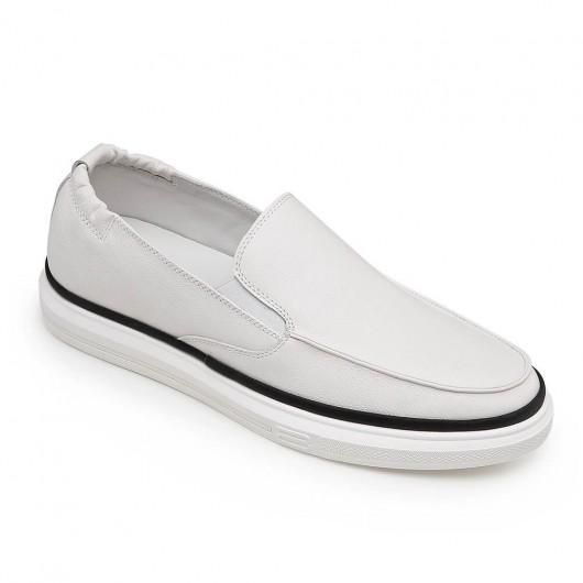 Chamaripa verhogende schoenen verhoogde schoenen voor mannen witte casual instapschoenen 5CM