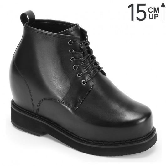 Chamaripa verhogende herenschoenen zwart kleding Schoenen die je langer maken 15CM