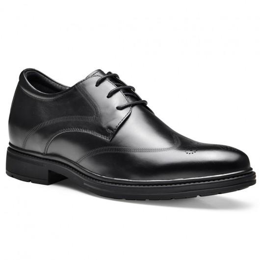 Chamaripa verhoogde schoenen voor mannen mannen schoen met hoge hak zwart schoenen die je langer maken 7.5CM