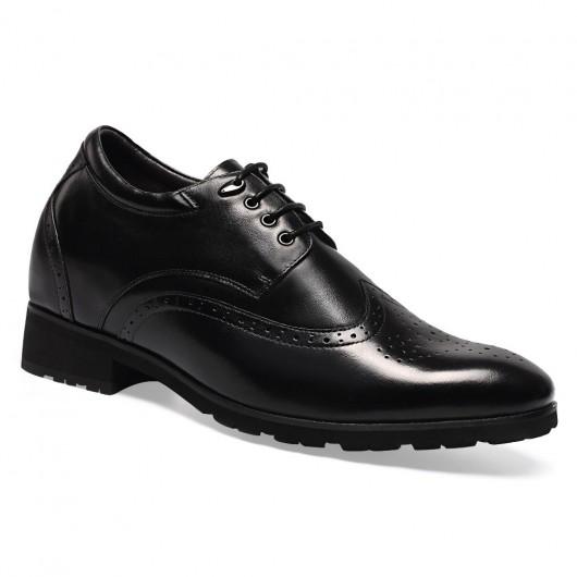 Chamaripa Verhogende Schoenen handgemaakte italiaanse schoenen 7CM Hoge Hakken voor Mannen