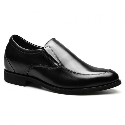 Chamaripa schoenen die je langer maken herenschoenen verhoogd kleding schoenen Zwart 7 CM