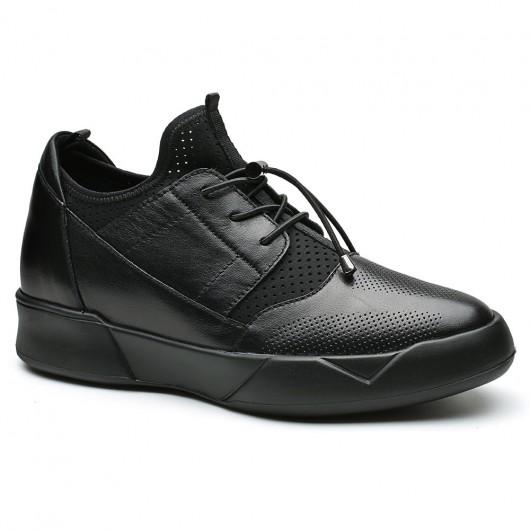 Chamaripa verhoogde schoenen voor mannen schoenverhoging heren schoenen met verborgen hak 8 CM zwart