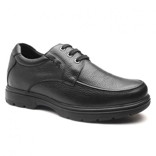 Chamaripa verhogende schoenen heren schoenen met hoge hak verhoogde schoenen voor mannen Zwart 6 CM