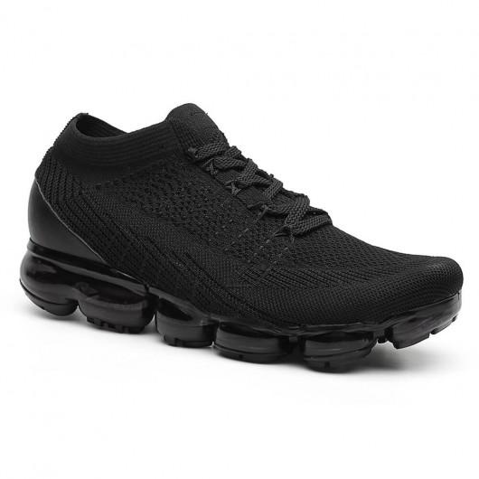 Chamaripa Verhoogde Schoenen sneaker met sleehak Zwart 5 CM Langer optioneel