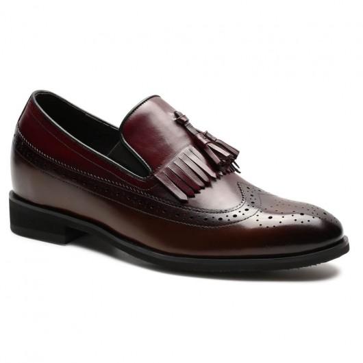 Chamaripa verhogende schoenen Herenschoenen met hoge hak instappers heren italiaanse verhoogde schoenen heren 7 CM Langer