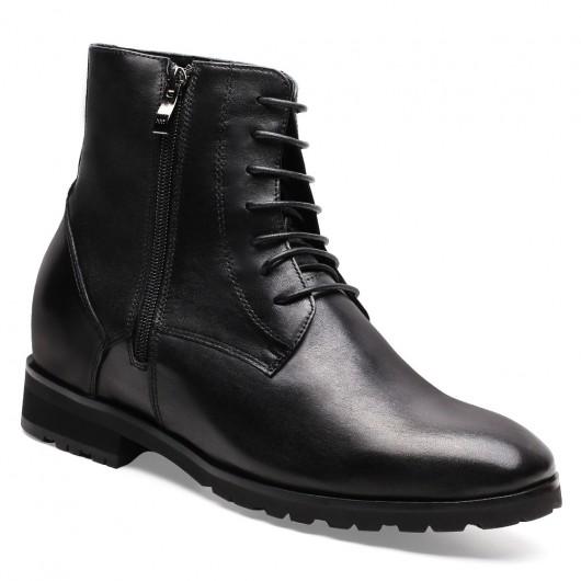 Chamaripa verhoogde schoenen zwart laarzen met hoge hak voor mannen mannen schoenen verhoogde hak 7 CM Langer