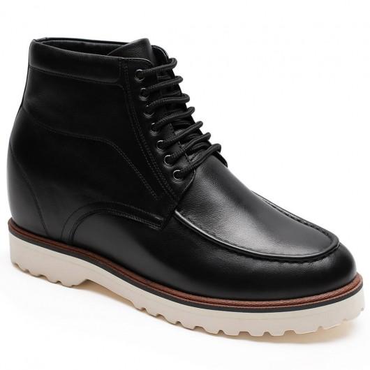 Chamaripa heren schoenen met verborgen hak laarzen met verborgen sleehak hoge hakken voor mannen 9 CM Langer