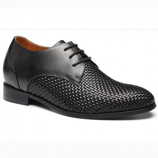 schoenen die je langer maken Zwart op maat gemaakte schoenen heren kleding schoenen 7.5 CM Langer