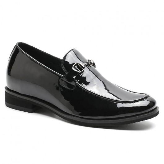 Chamaripa verhogende schoenen hoge hakken voor mannen hoge schoenen mannen Zwarte loafers 6 CM Langer