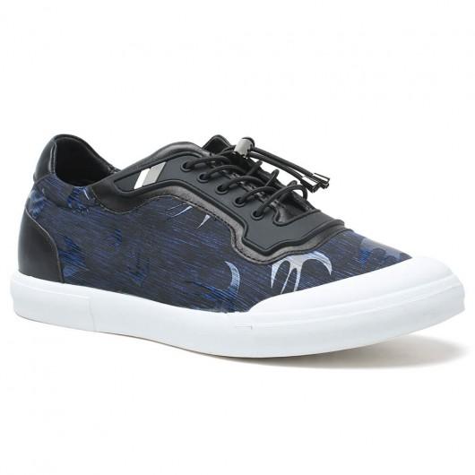 Chamaripa Verhogende Schoenen casual schoenen die je langer maken 6 CM blauw