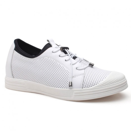 Casual Hidden Platform Shoes Breathable Elevator Sandals Heel Lift Shoes 6 CM /2.36 Inches