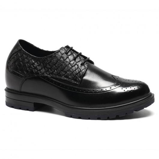 Chamaripa Verhogende Schoenen handgemaakte schoenen op maat voor mannen 7 CM Langer